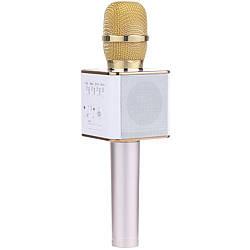Bluetooth микрофон-караоке DM Karaoke Q9 с динамиком (колонка) Золотой