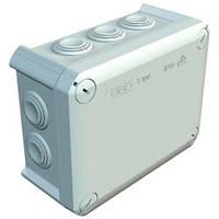 Коробка розподільча Т100 з кабельними вводами, 150х116х67, ІР66, ультрафіолетостійкий, ударостійкий пластик