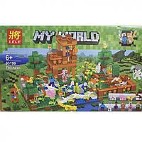 "Конструктор Майнкрафт Lele ""Рыбалка на озере"" My World (аналог Lego Minecraft) 33199"