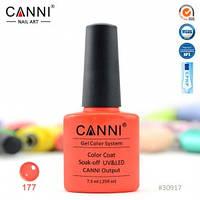 Гель-лак CANNI № 177 (ярко красный, неон), фото 1