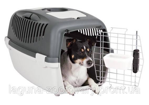 Бокс-переноска для мелких животных до 12кг/металл. решетка