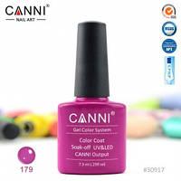 Гель-лак CANNI № 179 (малиново-пурпурный), фото 1