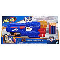 Бластер Нерф Nerf N-Strike Elite DualStrike Blaster Hasbro B4619, фото 1