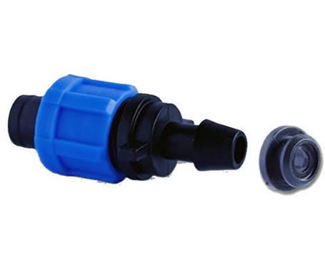 Стартер с уплотнительной резинкой для капельной ленты. Стартер с резинкой Сантехпласт., фото 2