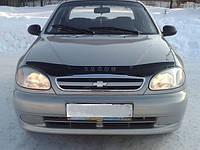 Дефлектор капота (мухобойка) Chevrolet Lanos  с 2005 г.в.