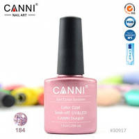 Гель-лак CANNI № 184 (розовый с голографическими блестками), фото 1