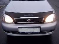 Дефлектор капота (мухобойка) Chevrolet Lanos  с 2005 г.в. ( с решеткой радиатора)