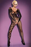 Комбинированный комбинезон с длинными рукавами, эротическая одежда
