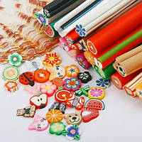 Фимо для ногтей в форме палочек, нарезка фигурки, палочки фимо для дизайна