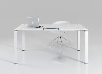 Стол офисный на металлических опорах с эргокромкой KBS
