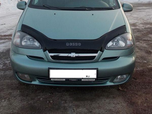 Дефлектор капота (мухобойка) Chevrolet Rezzo с 2004 - 2008 г.в.