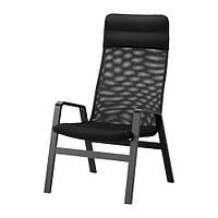 NOLBYN  Кресло c высокой спинкой, черный, черный
