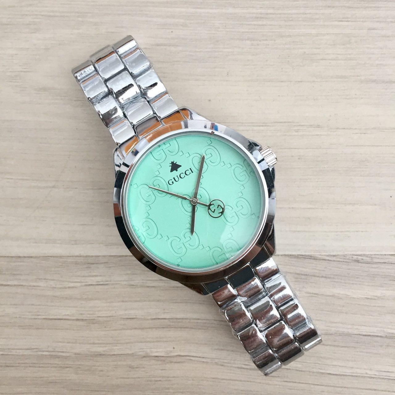 979d29d7 Часы наручные Gucci 7161 GFS Silver Green - Интернет-магазин