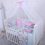 Дитячий постільний комплект Маленька Соня Baby Design Premium 6 і 7 елементів, фото 8
