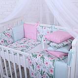 Дитячий постільний комплект Маленька Соня Baby Design Premium 6 і 7 елементів, фото 10