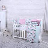 Дитячий постільний комплект Маленька Соня Baby Design Premium 6 і 7 елементів, фото 7
