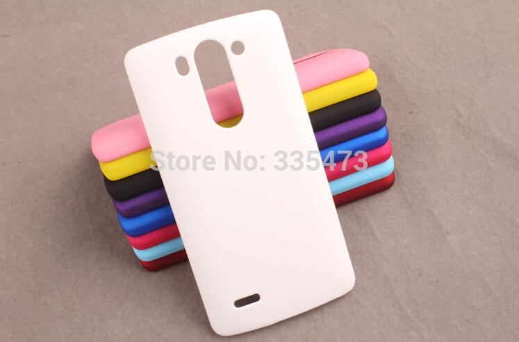 Матовый чехол для LG G3s Dual D722 D724 Белый Бампер Накладка