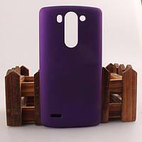 Матовый чехол для LG G3s Dual D722 D724 Фиолетовый Бампер Накладка