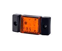 Габаритный фонарь диодный (73х33мм) желтый+кабель 0,5 м. 12/24v