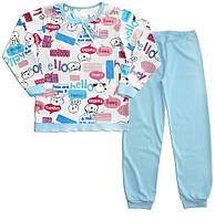 "Пижама на манжетах для девочки ''Hello"""