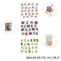 3D наклейки для дизайна ногтей на липкой основе. Картинки. Stick-SA-3D 110_114_118_C