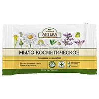 Мыло косметическое (Ромашка и Шалфей) - Зеленая Аптека