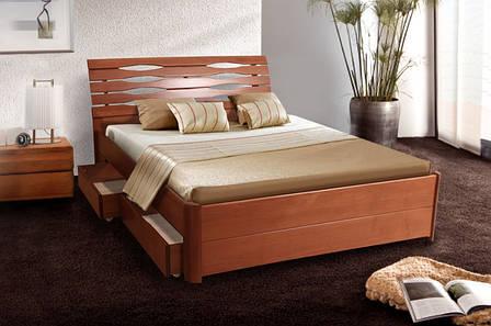 Кровать Мария Люкс (1,60 м.) с ящиками (ассортимент цветов) (Бук), фото 2