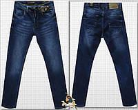 Модные мужские зауженные джинсы Corcix синего цвета баталы 32 размер