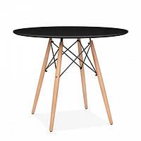 Стол обеденный Тауэр Вуд, диаметр 80 см, черный