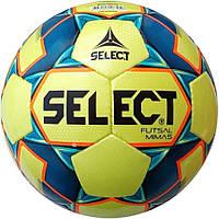 Мяч футзальный Select Futsal Mimas IMS, жёлто-синий, р. 4, низкий отскок, ламинированный, фото 1