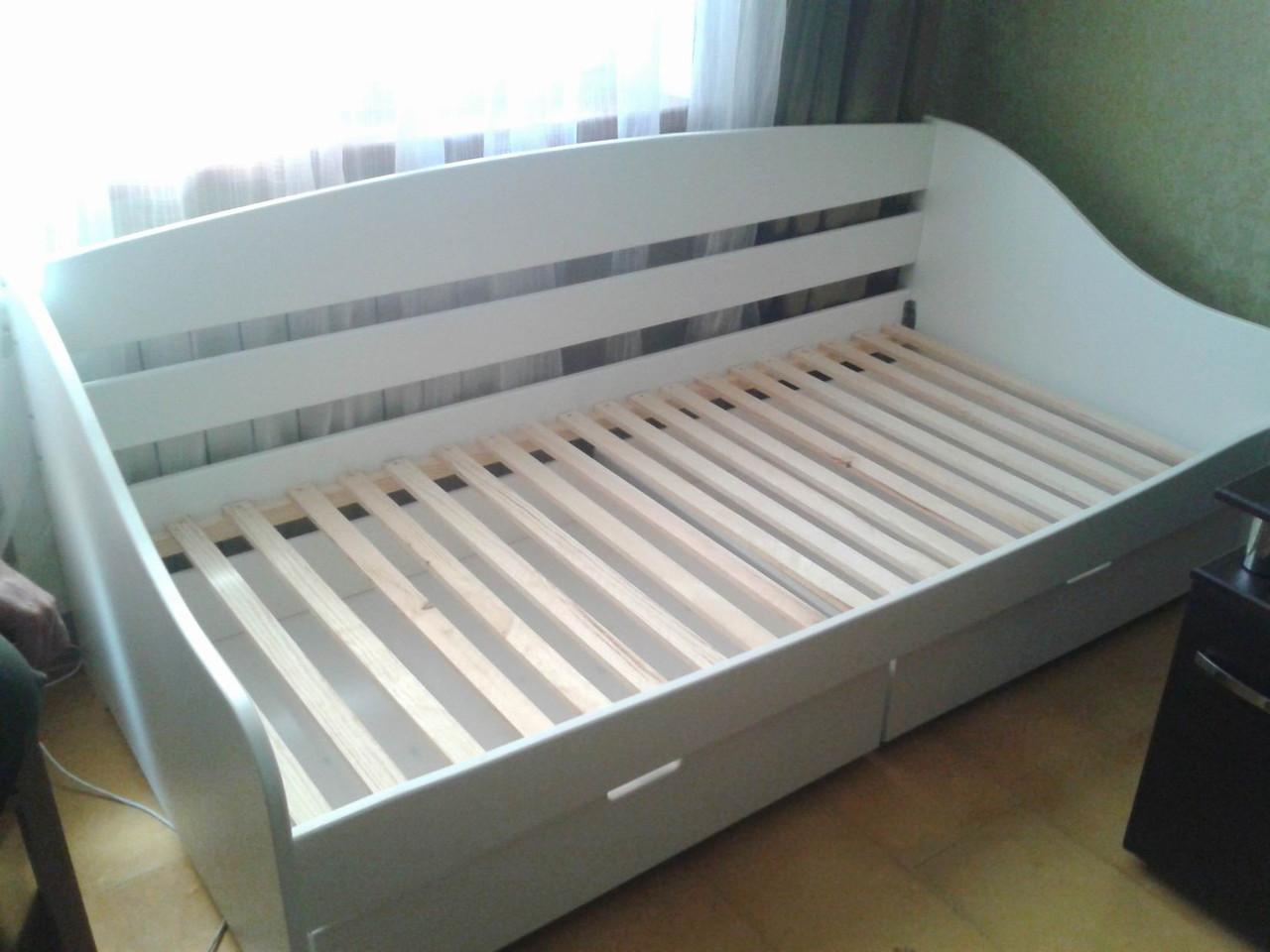 Кровать детская подростковая Люси, массив дуб, ясень, ольха