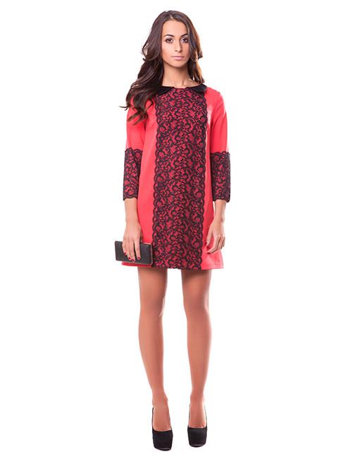 Яркое короткое платье свободного кроя (S-XL)
