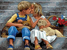 Картина по номерам (VK149) Нежное свидание (30х40)