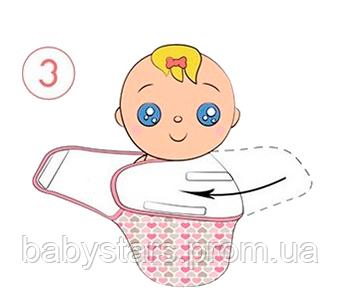 Инструкция по пеленанию ребенка в пеленку кокон на липучке - шаг 3