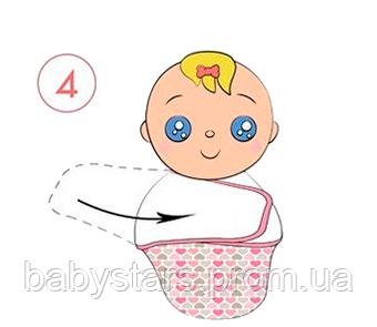 Инструкция по пеленанию ребенка в пеленку кокон на липучке - шаг 4