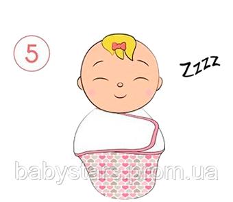 Инструкция по пеленанию ребенка в пеленку кокон на липучке - шаг 5