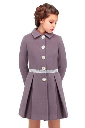 Детское кашемировое пальто для девочки, фото 2
