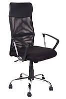 Офисный стул-кресло на колесиках черного цвета Prestige