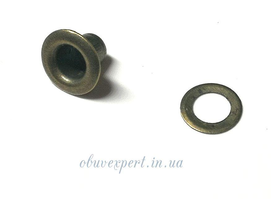 Люверс с шайбой 3 мм Антик