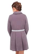 Красивое кашемировое пальто для девочки, фото 3