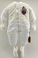 Зимний комбинезон 6, 9, 12 месяцев 68, 74, 80 см белый