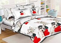 Комплект постельного белья (9389) двуспальное евро 200*220 хлопок TM KRISPOL Украина