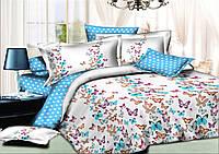 Комплект постельного белья (10190) двуспальное евро 200*220 хлопок TM KRISPOL Украина