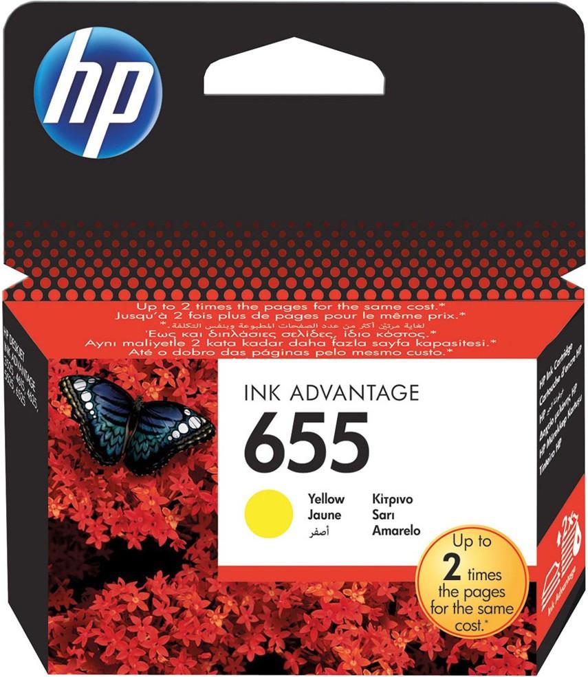Картридж HP No.655 DJ 4615/4625/3525/5525 Yellow
