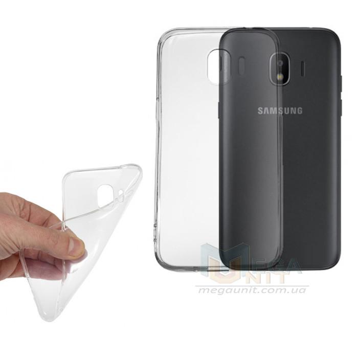 Прозрачный силиконовый чехол для Samsung Galaxy J2-2018 (j250)