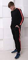 Мужской трикотажный костюм Kappa (Каппа) черный