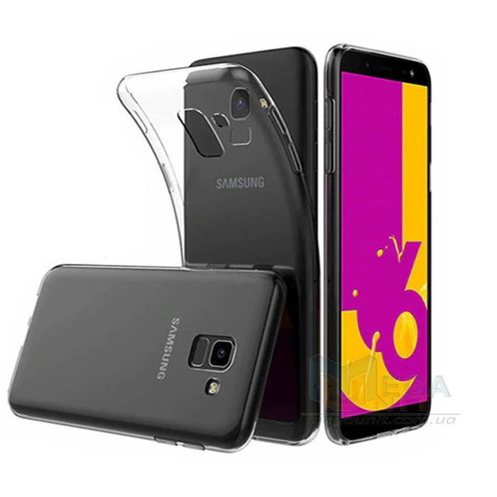 Прозрачный силиконовый чехол для Samsung Galaxy J6-2018 (j600)