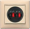 Legrand Valena розетка для колонок/акустикислоновая кость774324