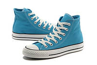 Converse All Star High Женские кеды синего цвета