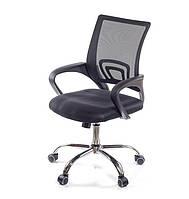 Кресло офисное на колесиках Тито CH TILT черного цвета из ткани